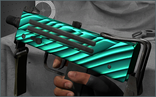 MAC10-Malachite-Hands